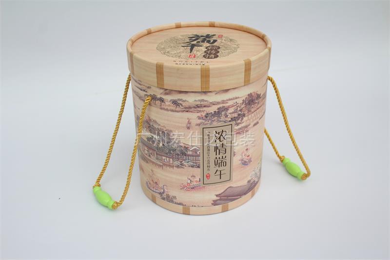 西安大饭店、酒店定制圆筒型粽子盒 选宏仕达专业包装盒厂家