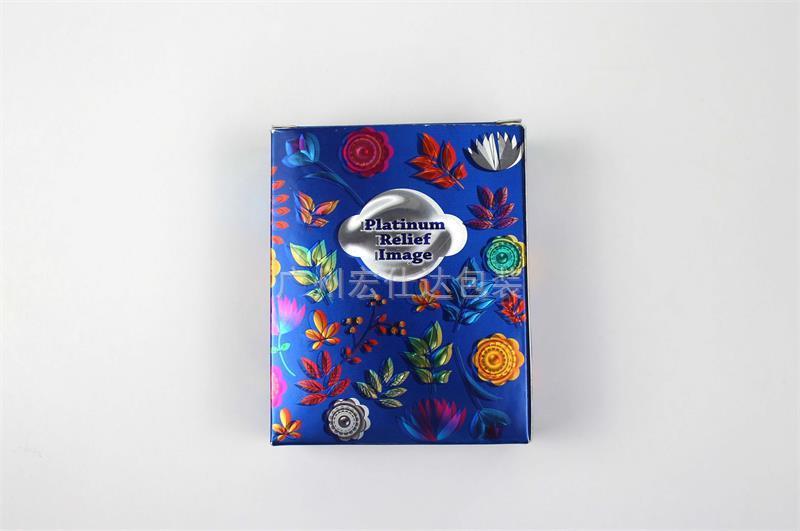 金银卡纸化妆品包装盒有色彩 宏仕达包装给您不同感受