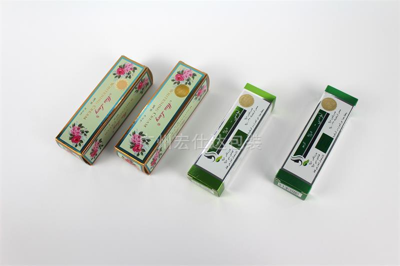 【出口埃及】化妆品彩盒印刷 美观大方的金银卡彩盒尽在宏仕达