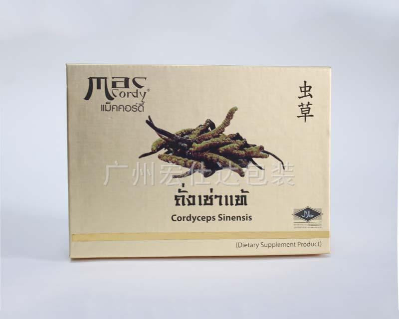 【虫草包装】泰国客户再次定制金银卡纸包装盒的理由