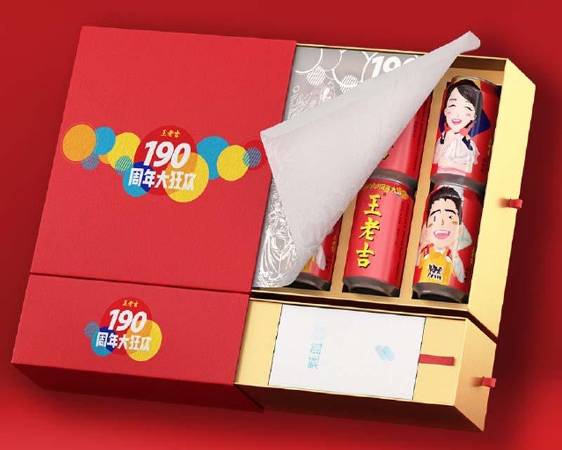 年轻的味道,王老吉190岁纪念款包装盒得里里外外
