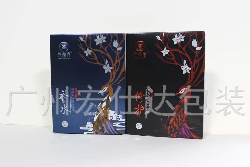 【面膜包装盒定制新标准】广东化妆品公司就用宏仕达逆向UV印刷工艺