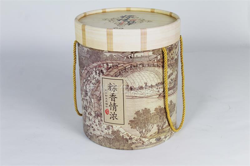 厂家定制生产圆桶形粽子盒|粽子包装盒|粽子包装盒