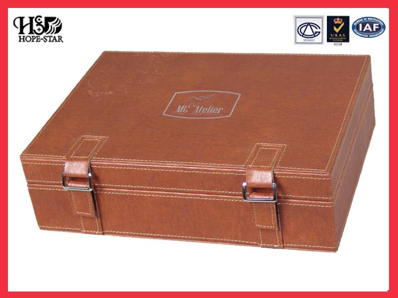 高档皮盒、化妆品皮盒