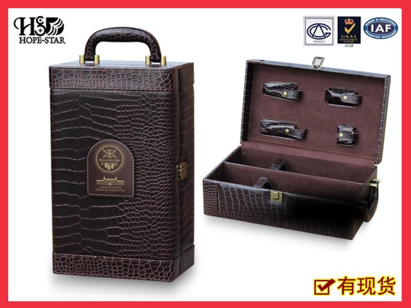 双支装红酒皮盒1