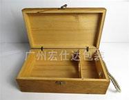 双支装木质酒盒