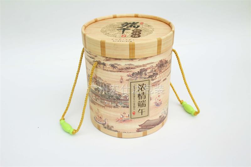 圆桶形粽子盒
