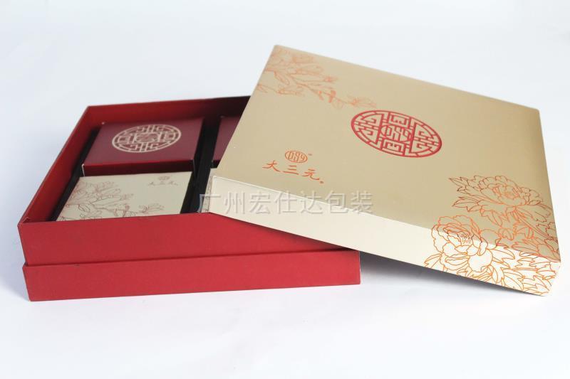 恒大酒店天地盖月饼盒(四个装)